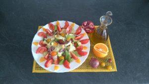 Salade avec Granade et Orange