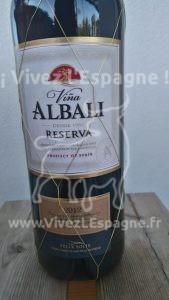 Vin Rouge Viña Albali Reserva Egtiquette Frontale