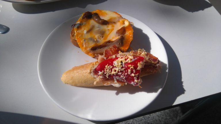 Don Jabugo - Jambon avec poivron farci et petite Tortilla aux champignons