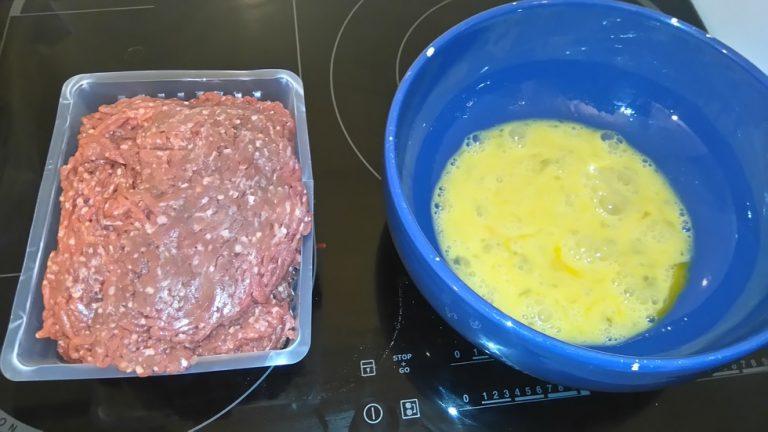 Viande hachée + Oeufs battus