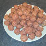 Une 50aine de boulettes prêtes à cuir