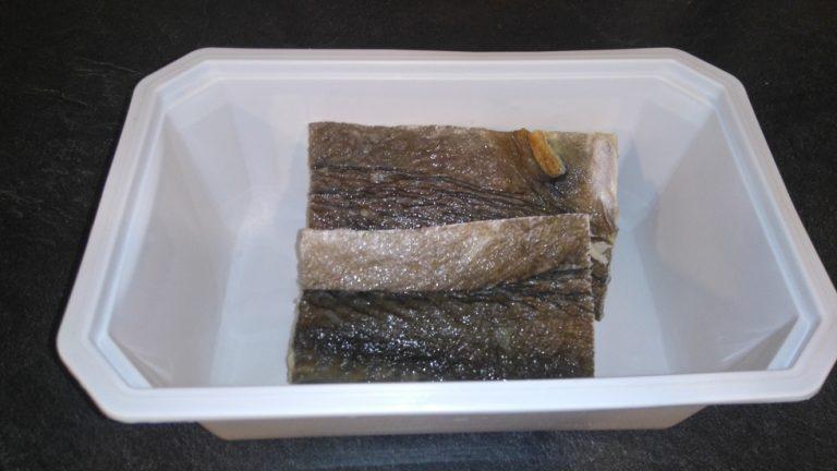 Morue dessalée prête à être cuisiné