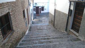Vue en montant les escalers