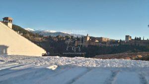 Vue sur la Sierra Nevada et l'Alhambra