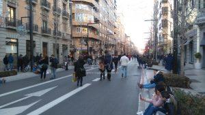 Rue Gran Vía de Colón à 17h28