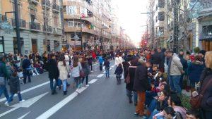 Rue Gran Vía de Colón à 17h57