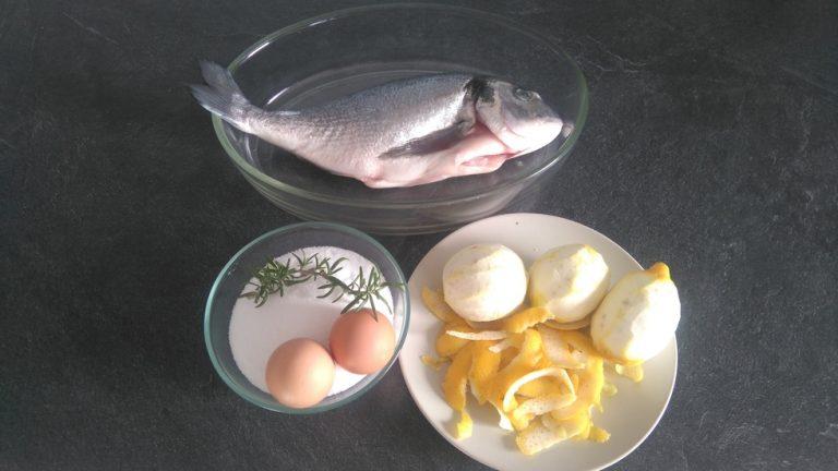 Ingrédients pour la Dorada a la sal – Dorade royale cuite dans le sel