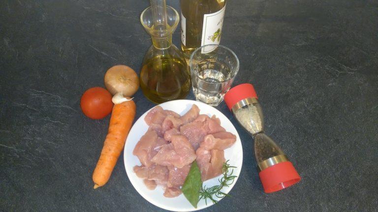 Ingrédients por un Estofado de Ternera