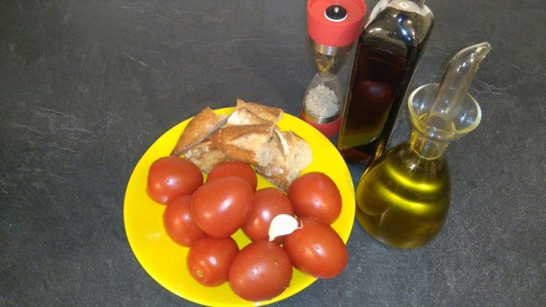 Ingrédiens pour faire du Salmolejo