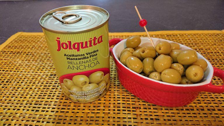 Olives Vertes Manzanilla Farcies aux Anchois