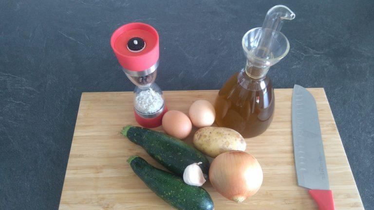 Ingrédients pour le Zarangollo Murciano
