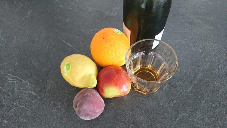 Ingrédients pour la Sangria De Champagne