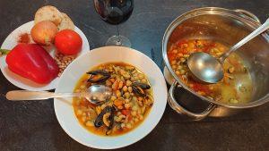 Soupe aux Pois Chiches et aux Moules