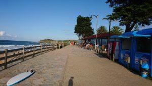 Les falaises de la plage d'Espasa aux Asturies