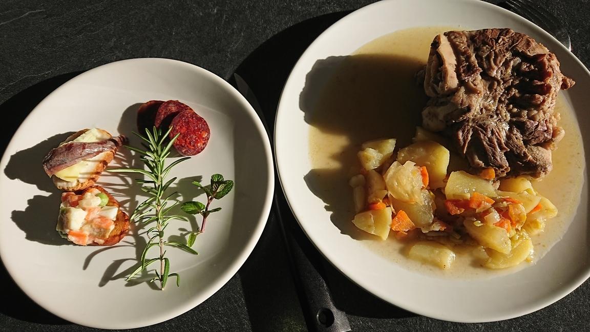 Carrilleras en su jugo – Joues de porc dans leur jus