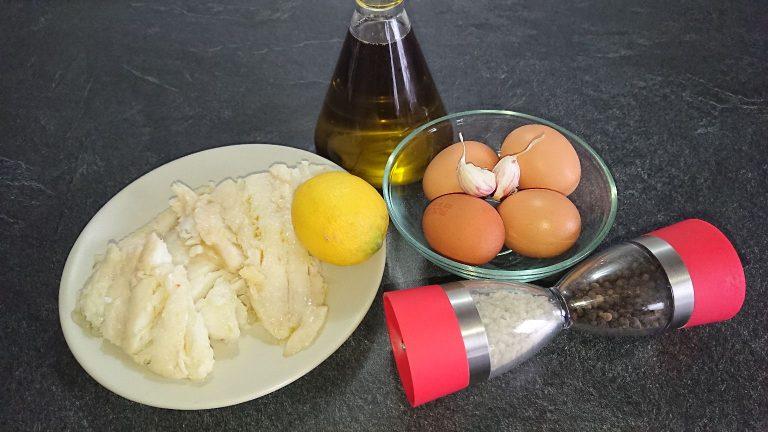 Ingrédients de la Tortilla de Poisson
