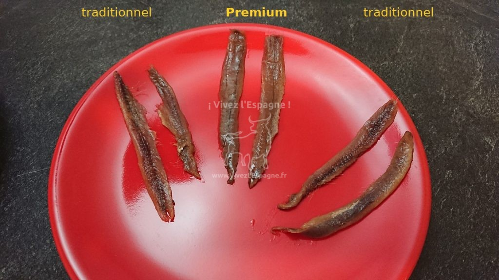 Comparaison Filets d'Anchois Premium et traditionnel