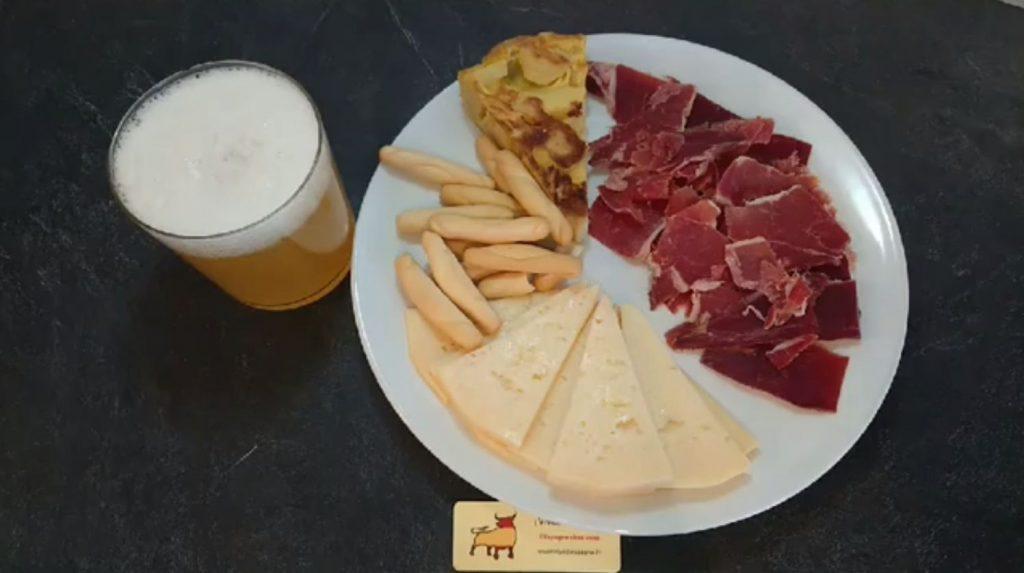 Assiette Tapas Fromage Espagnol